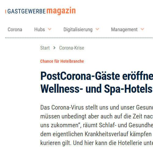 """Screenshot der Seite """"Gastgewerbe Magazin"""""""